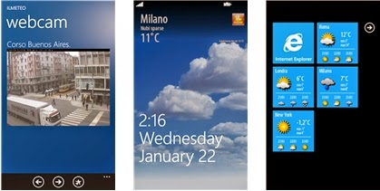APP GRATIS PER LE NOTIZIE METEO PER SMARTPHONE CON WINDOWS PHONE