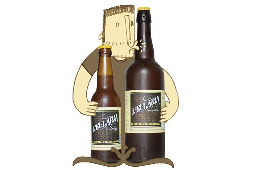 Il·lustració pel cartell del punts de venda a establiments de L'Eulària, la cervesa artesana d'Esparreguera cuinada pels Amics de la cervesa d'Esparreguera. ©Imma Mestre Cunillera