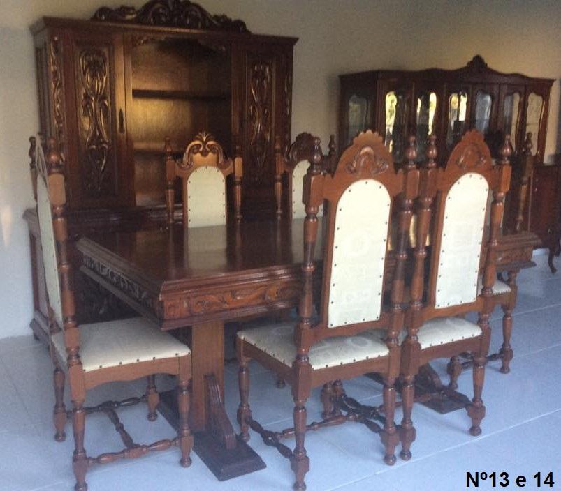 Nº13 e 14 mesa Sala de Jantar  4.000,00 Arca=3.600,00 Mesa+Arca=7.600,00,00