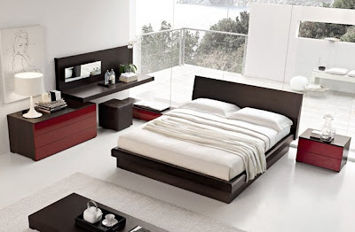 diseño dormitorio matrimonial moderno