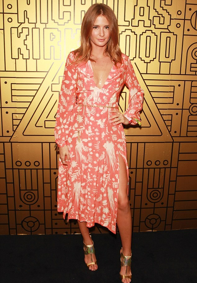 Millie Mackintosh at the London Fashion Week 2015