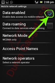 Mematikan lalu lintas data pada Android