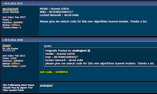 Huawei unlock code forum thread