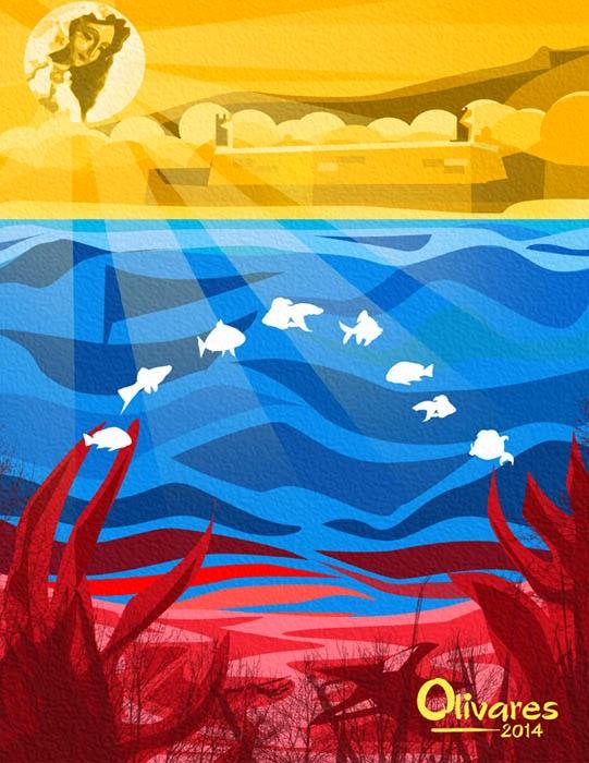 Arte con la bandera de venezuela oscar olivares - Baneras de obra ...