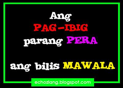 Ang pag-ibig parang pera, ang bilis mawala