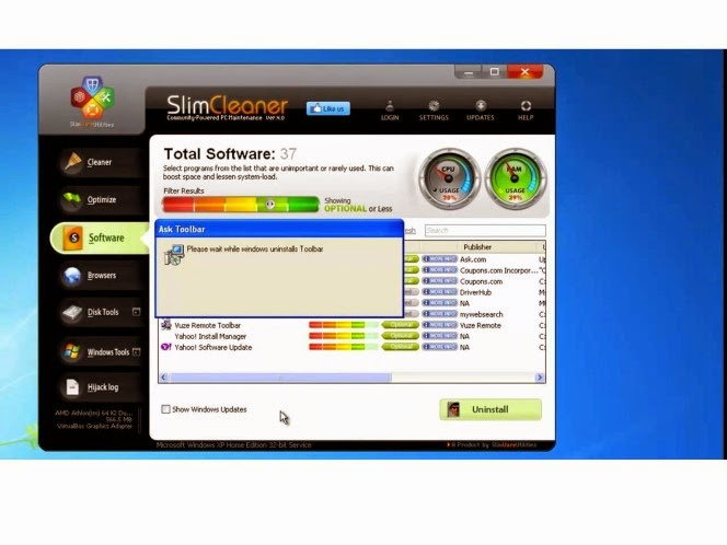 Compatible with Home windows PCs, SlimCleaner needs just an Web connection for downloading the program and any up-dates that may be needed during installation.