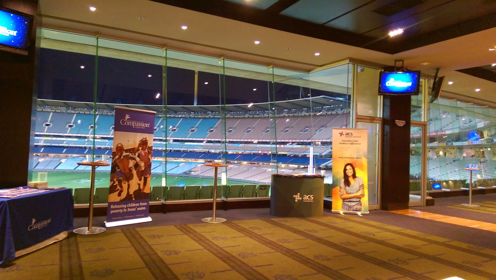 MCG Members Dining Room Looking Out To The Field