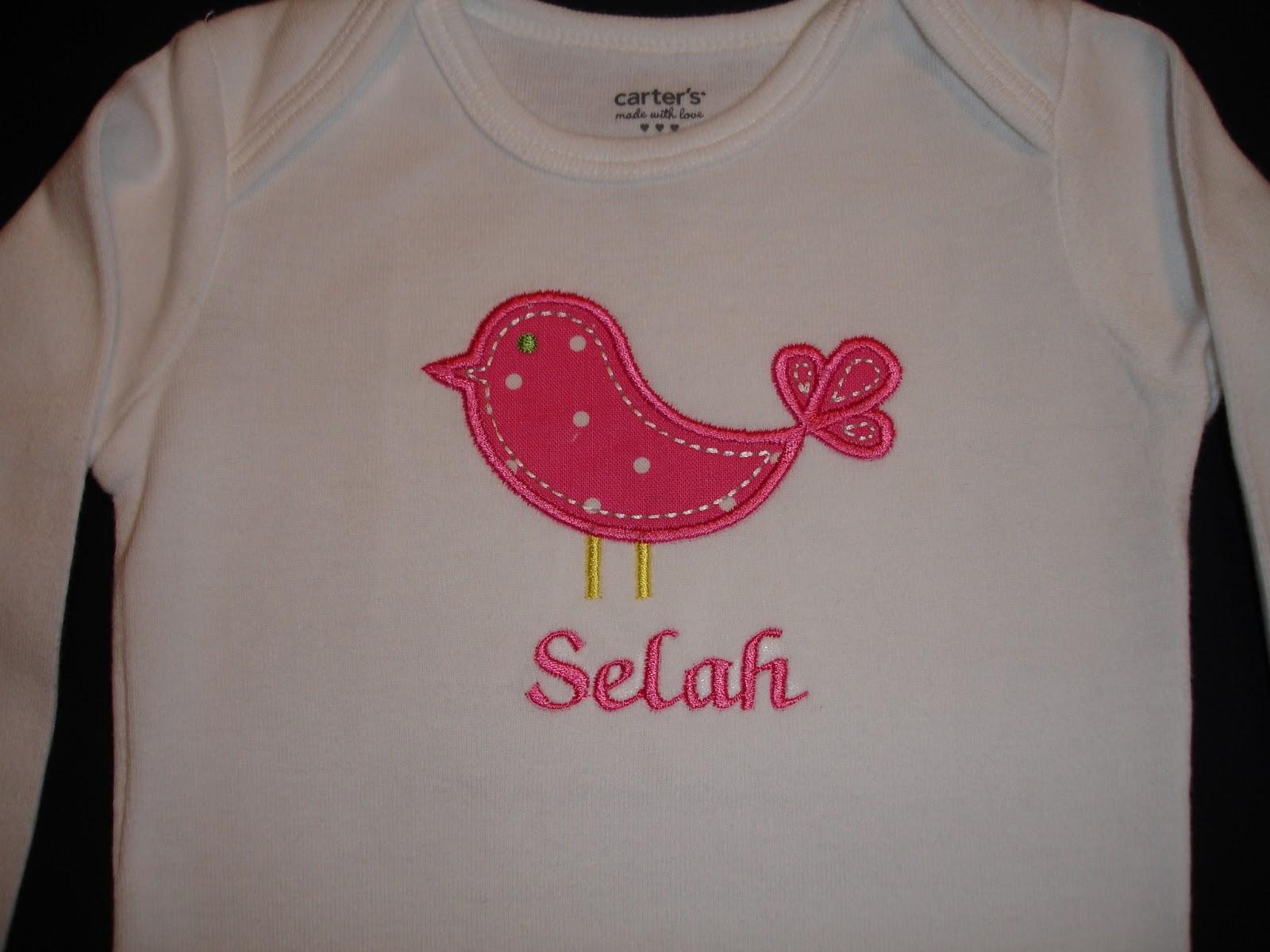 Leighbird Designs Applique T Shirts For Girls
