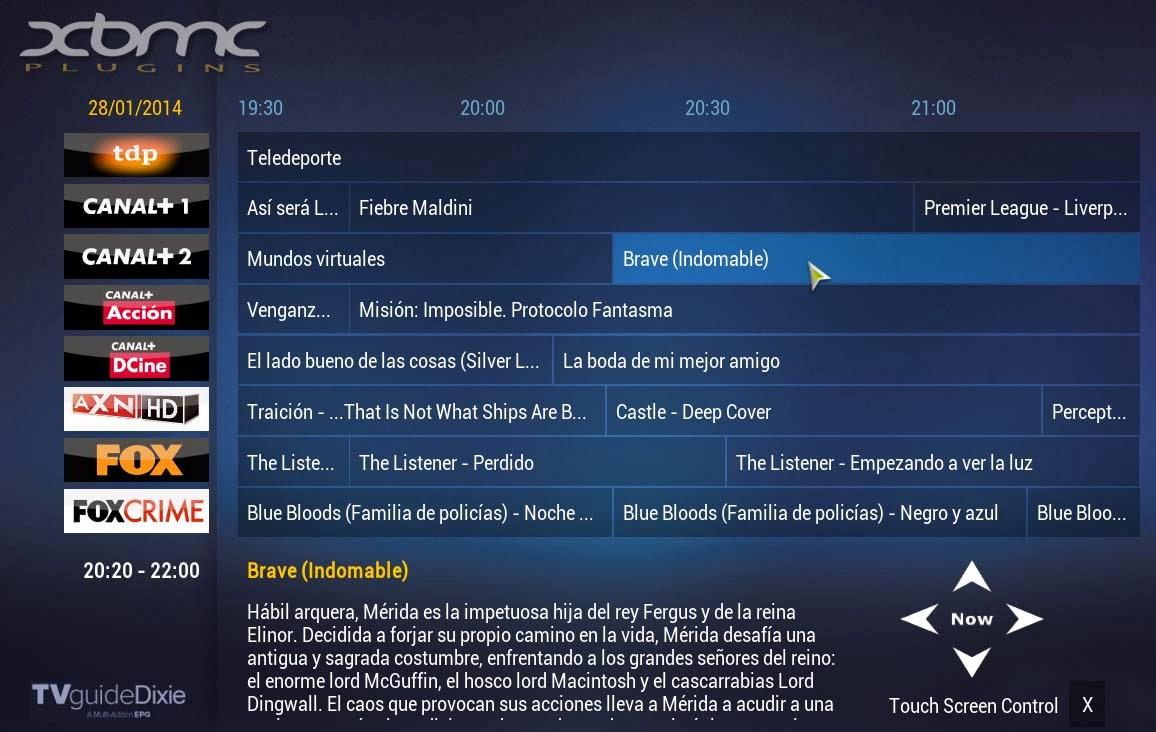 EPG en XBMC con TVGUIDEDIXIE MOD by LASER