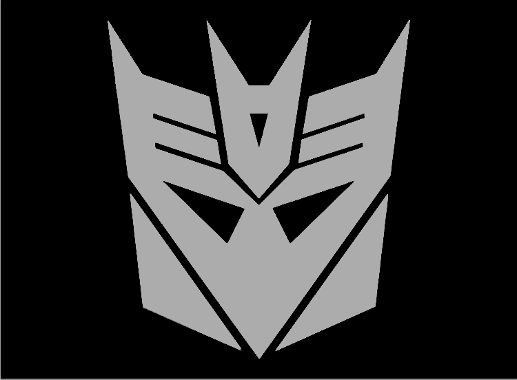 Decepticon Logo Black Cracked Decepti...