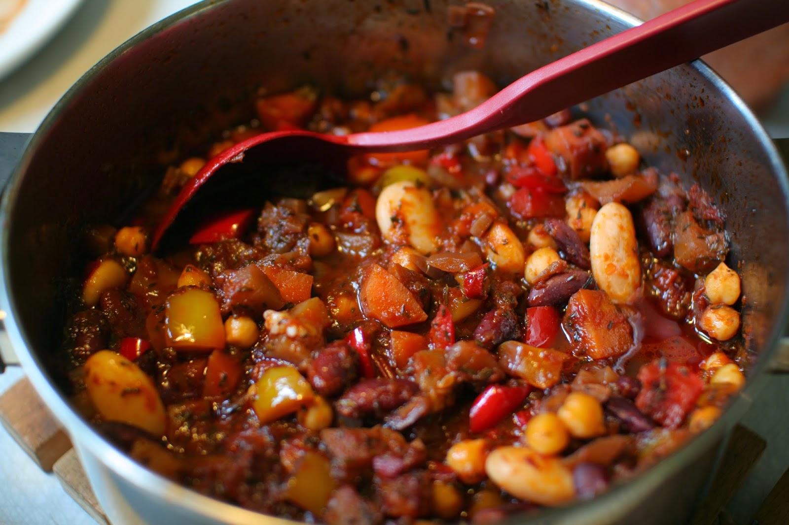 vegetarisk chili och böngryta