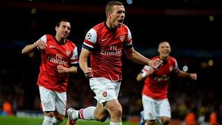 Arsenal VS Olympiakos Hasil Liga Champion Malam Tadi 4 Oktober 2012