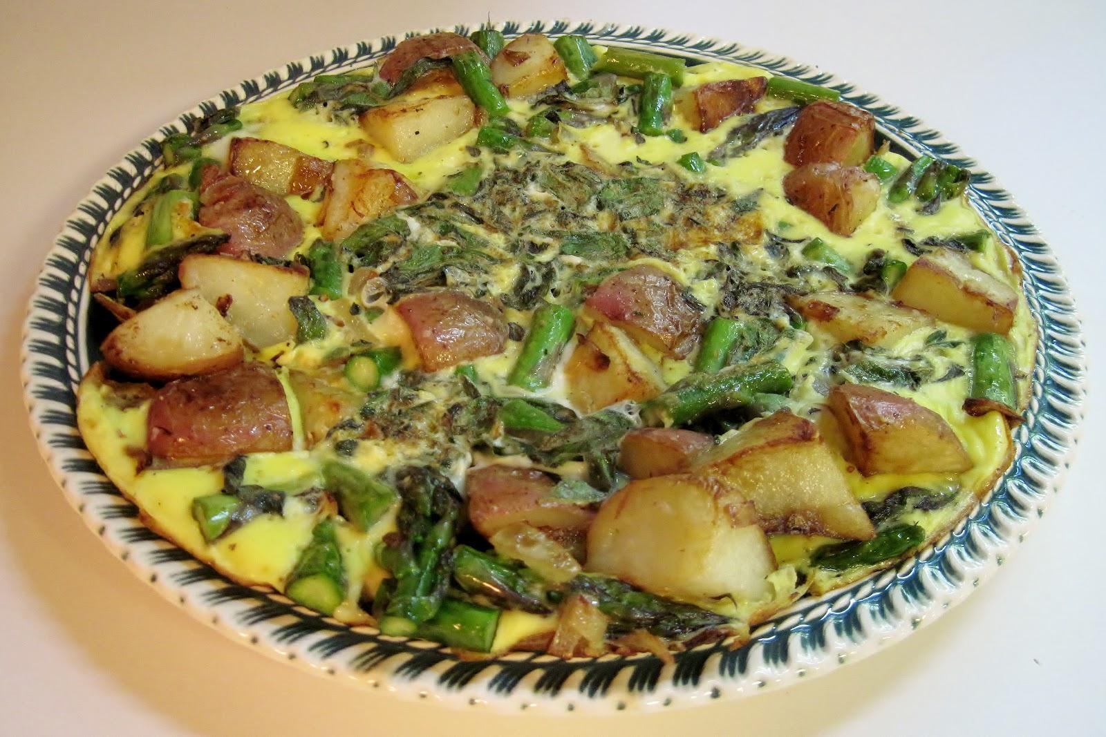 Carolina Sauce Company: Potato-Asparagus Frittata for One