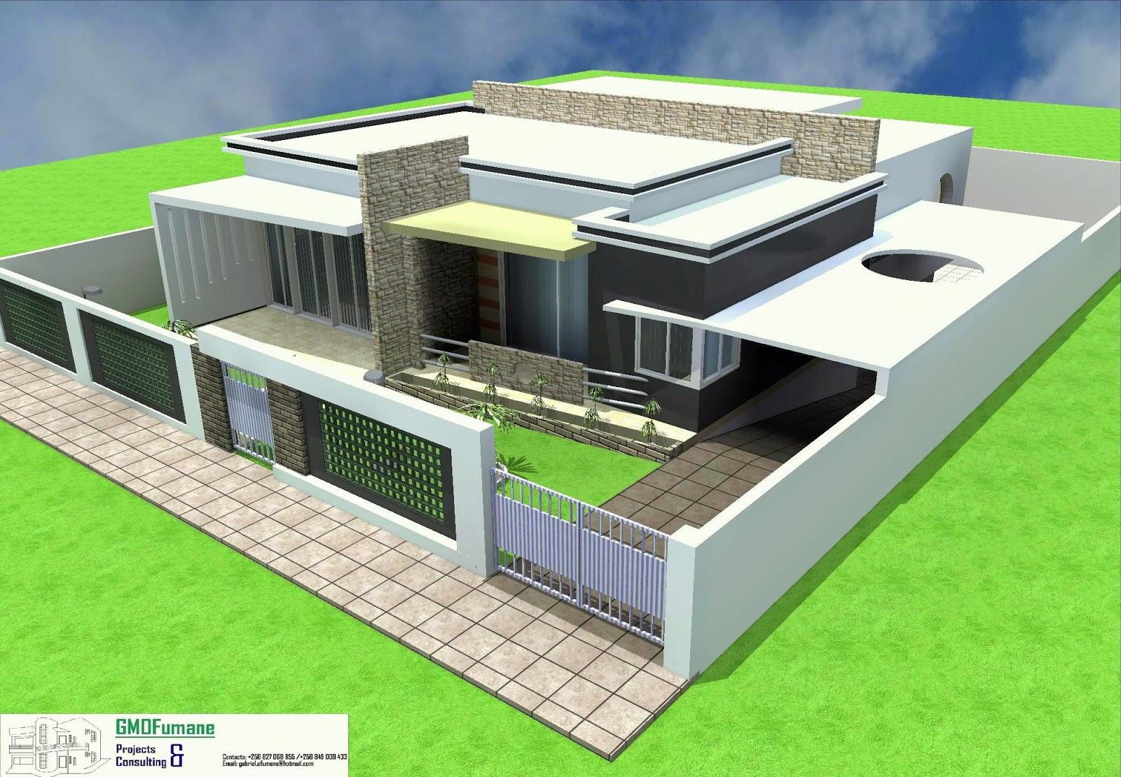 Gmofumane projectos e consultoria casa tipo 3 com cave for Plantas de casas tipo 3 modernas