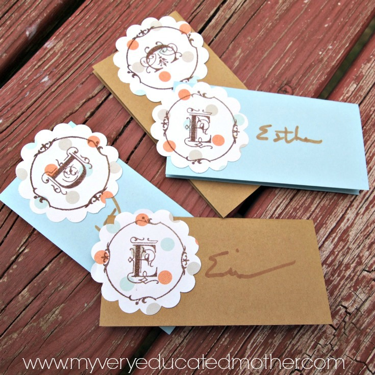 Add a special touch to your Thanksgiving dinner with personalized place cards using PSA Essentials Stamps.