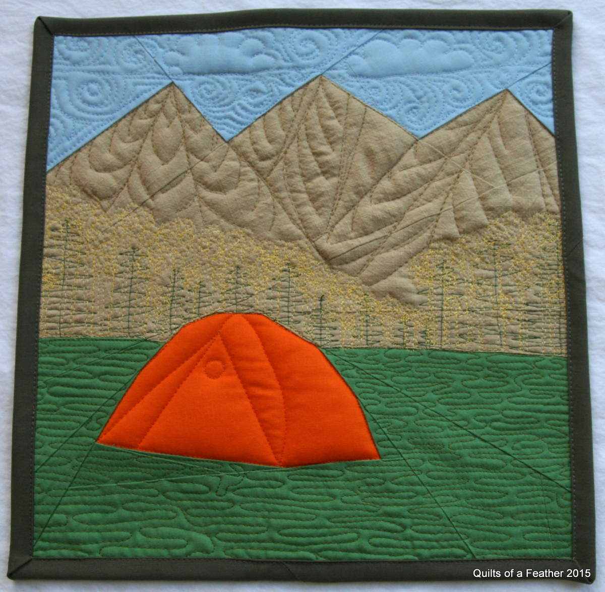 Quilts of a Feather: Mountain Camping Paper Pieced block: Fabri ... : mountain quilts - Adamdwight.com