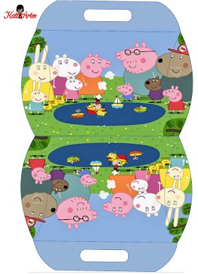 Peppa Pig: Free Printable Pillow Box.