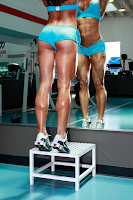 Fitness women calves