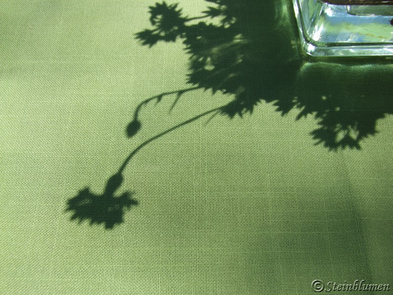 Kornblumen Tischdeko