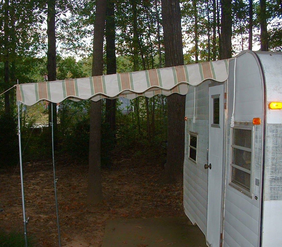 Vintage Awnings Ready To Mail Pre Made Vintage Camper Awnings For Sale