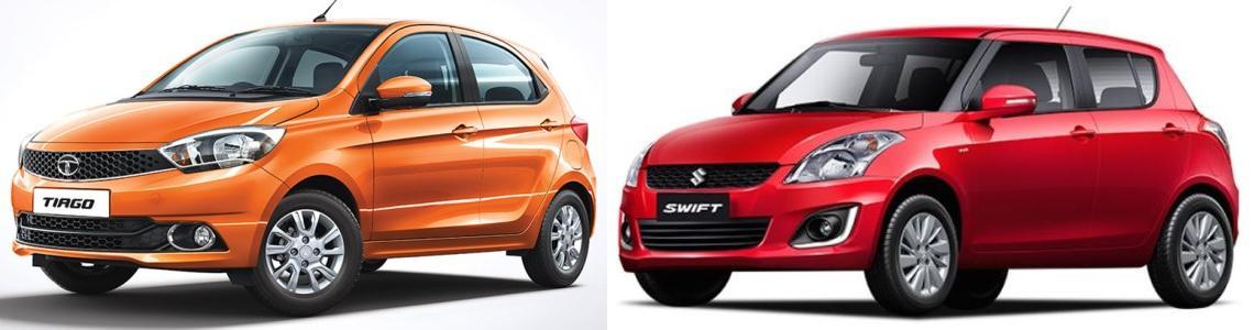 Tata Tiago vs Swift Comparison