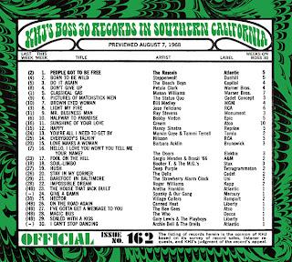 KHJ Boss 30 No. 162 - August 7, 1968