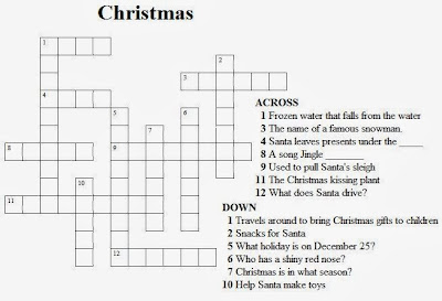graphic about Christmas Crosswords Printable titled Excess 4 Very simple Xmas Crosswords for children printable
