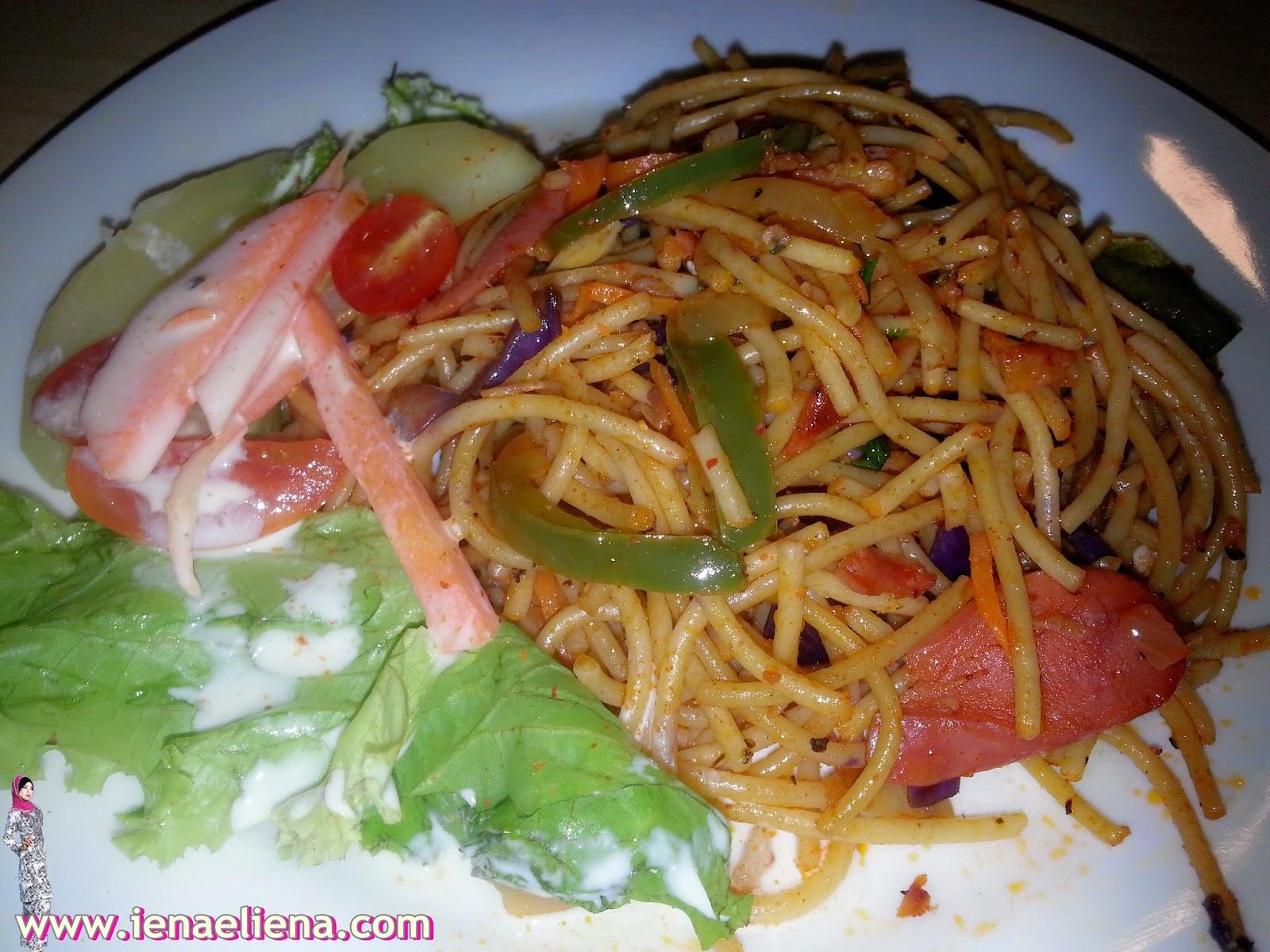spaghetti olio seafood