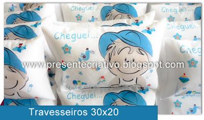 Travesseiros infantis personalizados