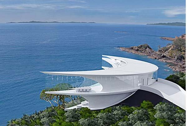 unique architectural buildings. Interesting Unique Views Facade Buildings Architecture Mahina House And Interior Space Look  Fabulous With A Modern White Contrast From Floor To Ceiling Windows  On Unique Architectural Buildings