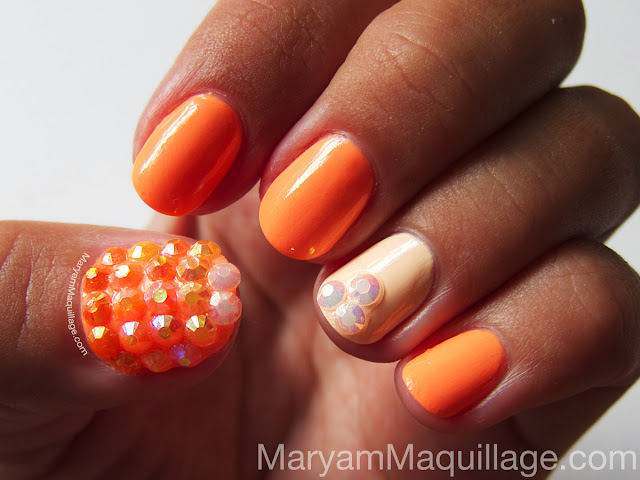 Maryam Maquillage: Red Caviar Bling Nails