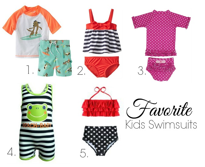 5 adorable swimsuits for kids