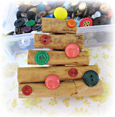image diy cinnamon stick christmas tree ornament tutorial add buttons