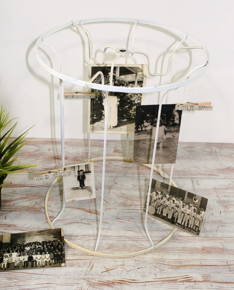 Vintage diana repurposing and decorating with vintage lampshade frames greentooth Image collections