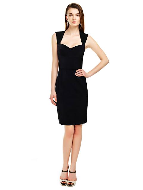 siyah elbise, dü kesim elbise, v yaka elbise, dekolteli elbise, gece elbisesi, kısa elbise, balo elbsesi