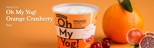 Stonyfield Oh My Yog Yogurt Orange Cranberry