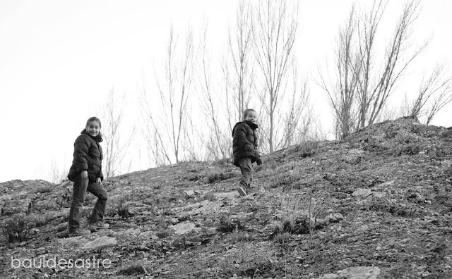 montaña con niños