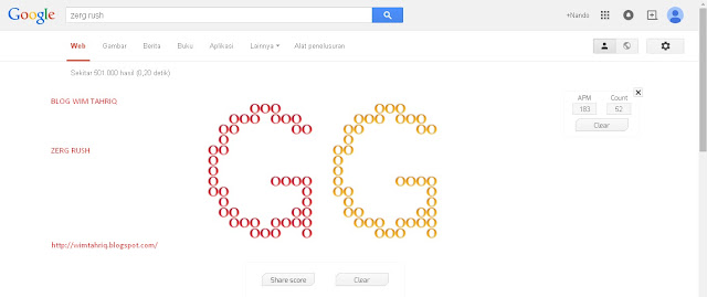 Zerg Rush, Game Rahasia Dari Google