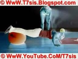 تمرين عضلات البطن والذراعين والصدر والفخذين والارداف