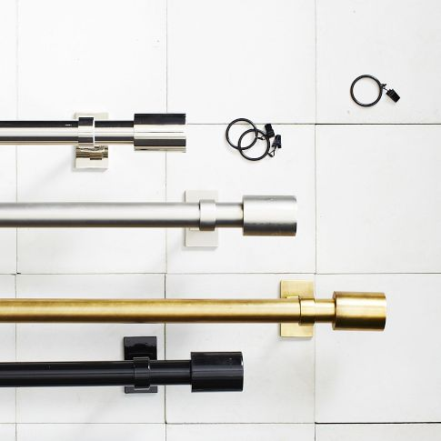 nicolebvintage modern gold curtain rods