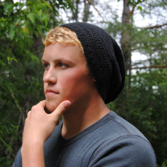 Free Crochet Pattern For Mens Slouchy Beanie : Annabel Pierce: Basic Mens Slouch Hat