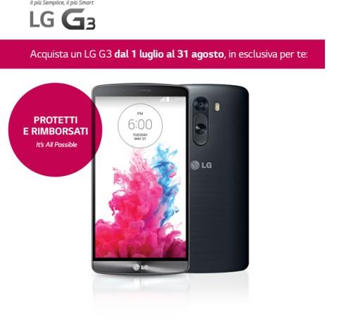 LG regala 6 mesi di assicurazione Kasko e 100 euro su G Watch se comprate un G3 garanzia Italia