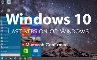OpO ~ Versi windows yang terakhir adalah windows 10