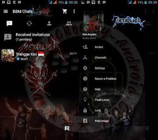 BBM Mod Metallica Themes New V2.10.0.31 Apk Clone