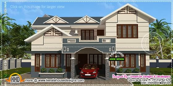 House elevation rendering