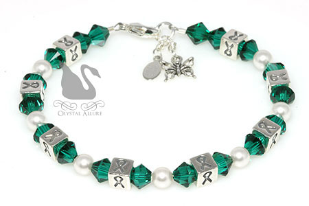 Organ Transplant Awareness Ribbon Bracelet (B105)