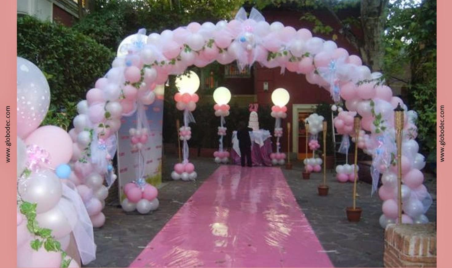 Arcos de globos para 15 a os imagui for Globos para quince anos