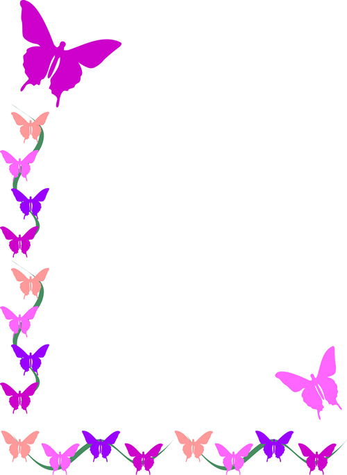 Butterfly Border - Page Borders
