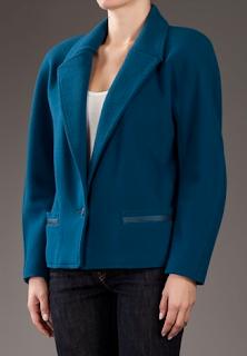 vintage round shoulder blazer