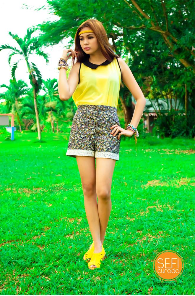 Floral Shorts Pastel Peter Pan